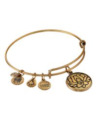ALEX AND ANI | Metallic Lotus Peace Petals® Charm Bangle | Lyst