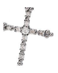 Stone | Metallic 18kt Black Gold Grace Necklace with White Diamonds | Lyst