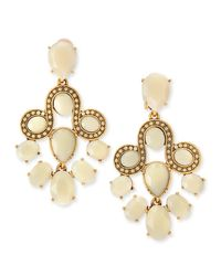Oscar de la Renta | Metallic Resin Faceted Chandelier Clip-On Earrings | Lyst