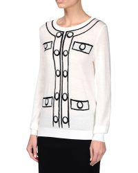 Boutique Moschino - White Long Sleeve Sweater - Lyst