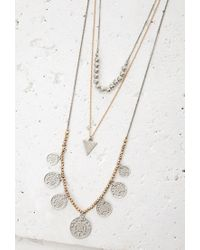 Forever 21 | Metallic Coin Pendant Necklace Set | Lyst