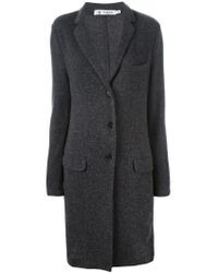 Barena - Gray Single Breasted Cardi-coat - Lyst