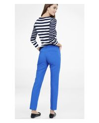 Express - Blue Low Rise Editor Ankle Pant - Lyst