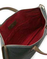 Loewe - Green Toledo Leather Briefcase - Lyst