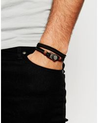 ASOS | Black Leather Card Holder And Bracelet Gift Set for Men | Lyst