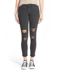 Vigoss - Black 'tomboy' Destroyed Jeans - Lyst