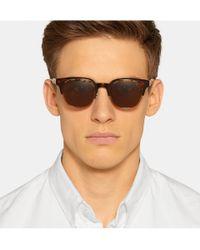 Eyevan 7285 - Brown Square-Frame Acetate Sunglasses for Men - Lyst