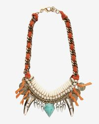 DANNIJO | Orange Levi Beaded Horn Bib Necklace | Lyst