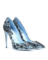 Dolce & Gabbana - Blue Kate Lace-Coated Pumps - Lyst