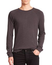 Rag & Bone - Gray Standard Issue K-long Sleeve Raglan Tee for Men - Lyst