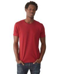 Alternative Apparel | Red Basic Mens Crew T-shirt for Men | Lyst