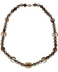 Macy's | Metallic Smoky Quartz Collar Necklace In 14k Gold (258-1/2 Ct. T.w.) | Lyst