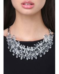Bebe - White Lucite Bead Necklace - Lyst