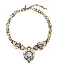 Saks Fifth Avenue | Metallic Jeweled Medallion Necklace | Lyst