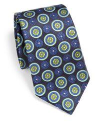Ike Behar | Floral Medallion Silk Tie for Men | Lyst