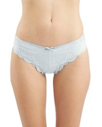 TOPSHOP | Blue Lace Thong | Lyst