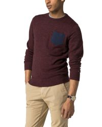 Tommy Hilfiger - Red Mizner Crew Neck Sweater for Men - Lyst