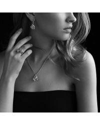 David Yurman | Metallic Cable Wrap Pendant with Black Onyx and Diamonds On Chain | Lyst