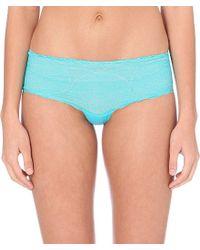 Calvin Klein | Blue Lace Hipster Briefs | Lyst