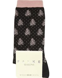 Falke | Black Winter Wood Socks | Lyst