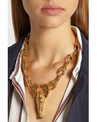 Virzi+de Luca - Metallic Lobster Gold-Plated Necklace - Lyst