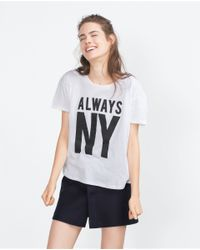 Zara | Black Cities T-shirt | Lyst