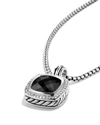David Yurman | Black Albion Pendant With Lavender Amyethst And Diamonds | Lyst