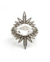 Alexis Bittar - Metallic Silver Gaze Marquis Sunburst Ring You Might Also Like - Lyst