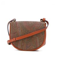 Etro - Multicolor Paisley Print Saddle Bag - Lyst