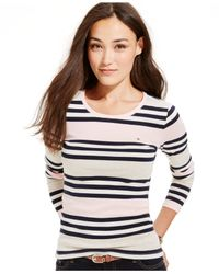 Tommy Hilfiger - Pink Striped Long-sleeve Tee - Lyst