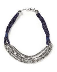 Banana Republic - Blue Cascade Delicate Short Necklace - Lyst