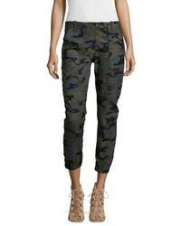 Veronica Beard | Gray Field Camouflage-Print Cargo Pants | Lyst
