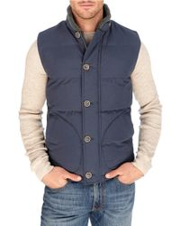 Lucky Brand | Blue Workwear Puffer Vest for Men | Lyst