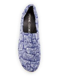 Opening Ceremony - Blue Komondor-Print Flatform Sneakers - Lyst