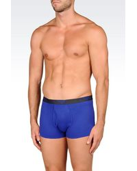 Emporio Armani | Blue Boxers for Men | Lyst