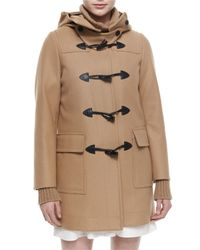 Belstaff - Natural Hooded Toggle-front Duffel Coat - Lyst