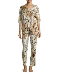 Natori - Multicolor Gabon Two-Piece Tunic Pajama Set - Lyst