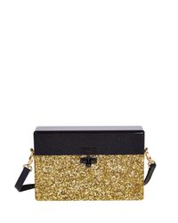 Edie Parker - Black Half-And-Half Small Trunk Bag - Lyst