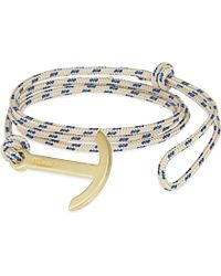 Miansai - Blue Brass Rope Hook Bracelet, Men's, Khaki - Lyst