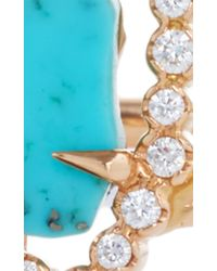 Jordan Alexander | Blue Mo Exclusive: One Of A Kind 18k Gold Turquoise And Pearl Slice Bracelet | Lyst