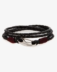 Ted Baker | Black Woven Leather Bracelet for Men | Lyst
