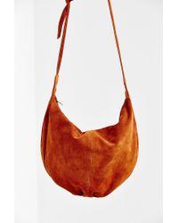 Ecote | Orange Knotted Suede Shoulder Bag | Lyst