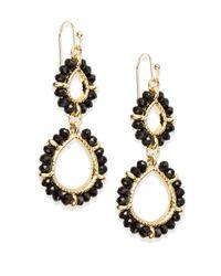 Saks Fifth Avenue | Beaded Double Drop Earrings/black | Lyst