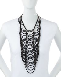 Brunello Cucinelli | Black Agate Necklace | Lyst