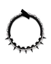 Joomi Lim - Black Spike Pearl Cotton Braid Necklace - Lyst