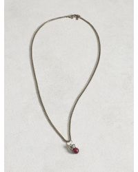 John Varvatos | Metallic Crowned Ruby Ball And Chain Necklace for Men | Lyst