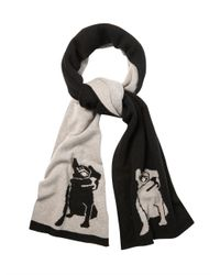 Marc By Marc Jacobs - Black Olive The Dog Wool Scarf - Lyst