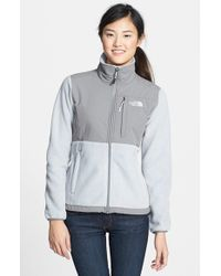 The North Face - Gray Denali Fleece Jacket - Lyst