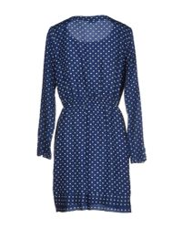 Closed - Blue Short Polka Dress - Lyst