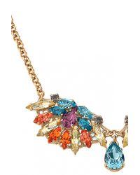 Anton Heunis | Multicolor Triple Fan Crystal Cluster Necklace | Lyst